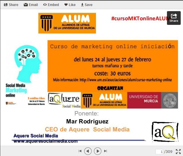 """Curso Marketing Online Murcia"""