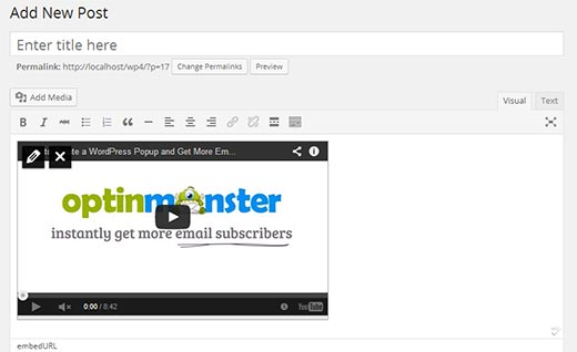 insertar video wordpress 4.0