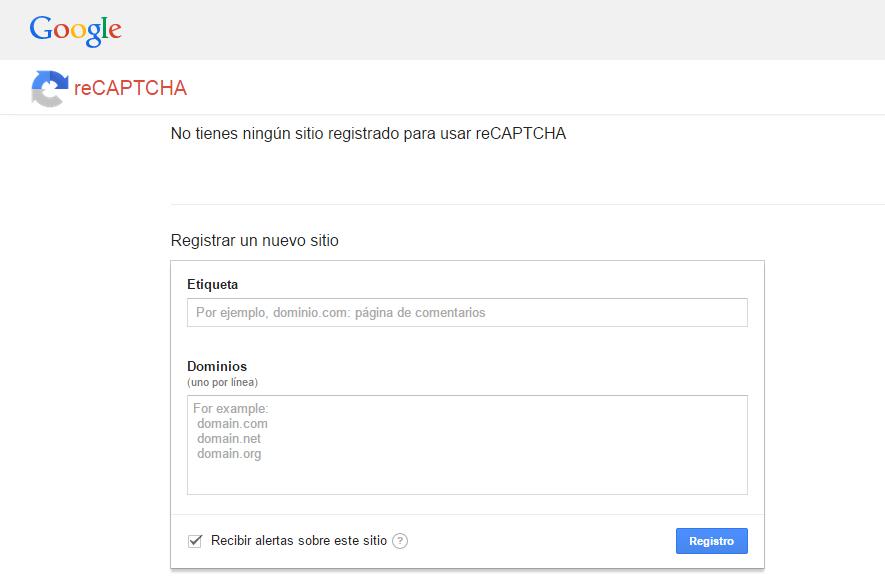 WEB RECAPTCHA