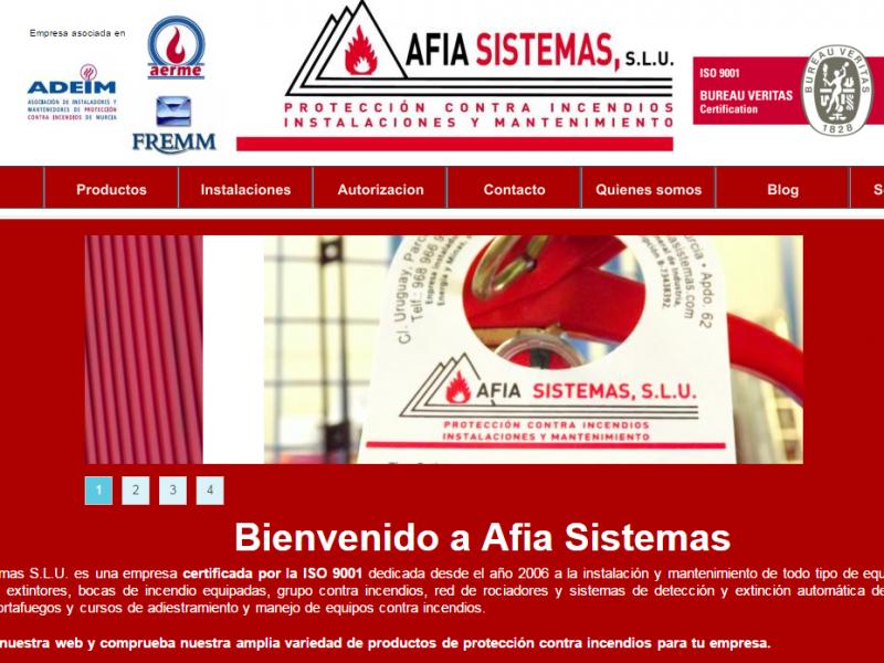 Página web de Afia Sistemas