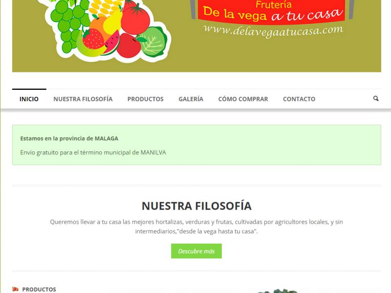 Página web de De la Vega a tu Casa