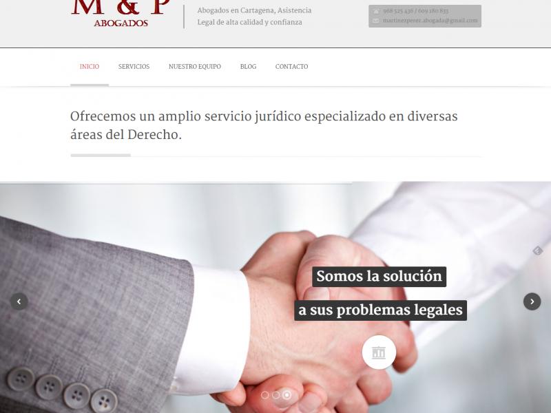 Página web de M&P Abogados