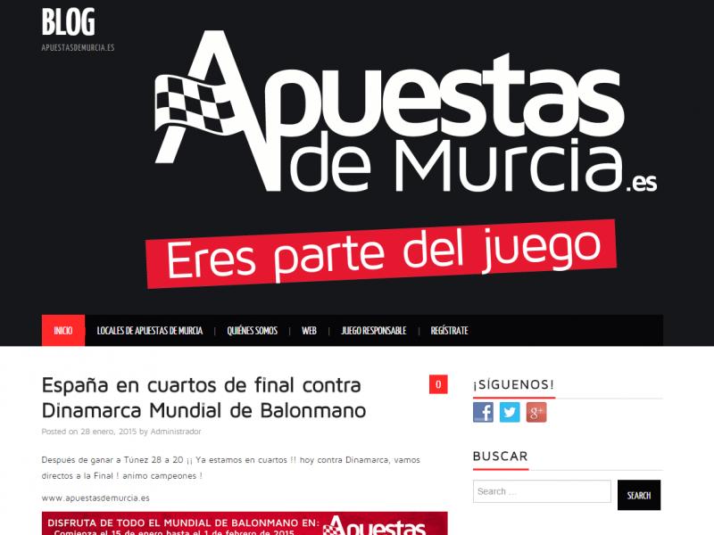 Instalación Blog corporativo Apuestas de Murcia