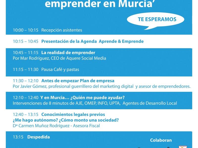 Jornada 'Todo lo que debes saber antes de emprender en Murcia'